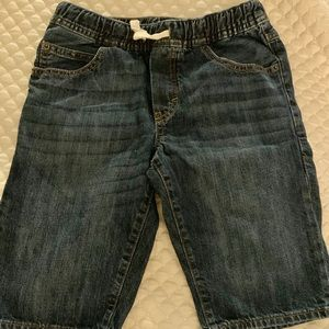 Big boy jean shorts from The GAP in blue.